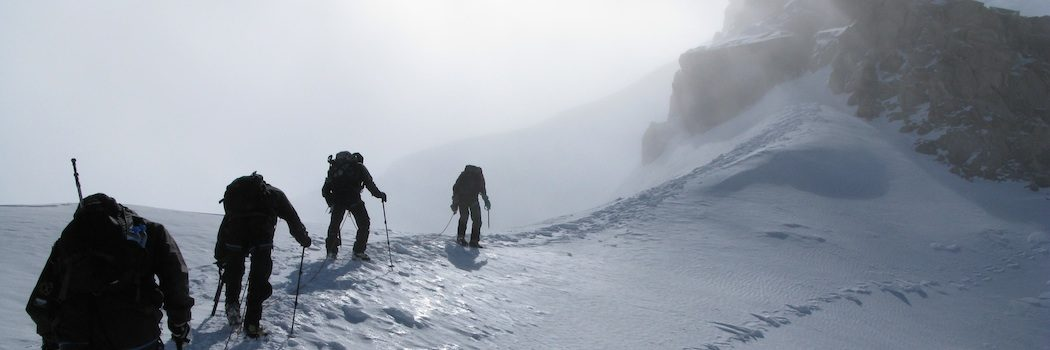 På vej mod toppen af Mont Blanc du Tacul